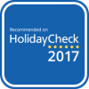 Logo Recommended on HolidayCheck 2017